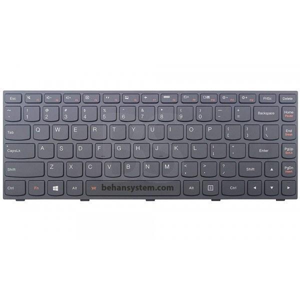تصویر به همراه لیبل کیبورد فارسی جدا گانه کیبورد لپ تاپ لنوو IdeaPad مدل G4070