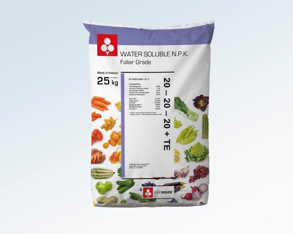 عکس کود NPK (20-20-20) Eurosolids – 5kg  کود-npk-20-20-20-eurosolids-5kg