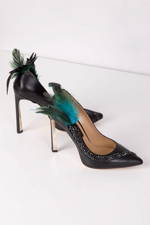 عکس کفش پاشنه بلند جیر نگین دار مشکی استیلتو چرم زنانه برند İlvi کد 158715784  کفش-پاشنه-بلند-جیر-نگین-دار-مشکی-استیلتو-چرم-زنانه-برند-i-lvi-کد-158715784