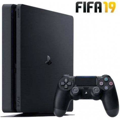 کنسول بازي سوني مدل Playstation 4 Slim کد CUH-2216A ظرفيت 500 گيگابايت به همراه دیسک  فیفا 19 |