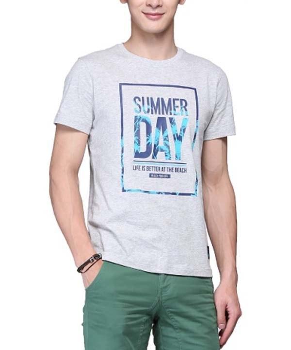 تی شرت طرح دار مردانه جین وست