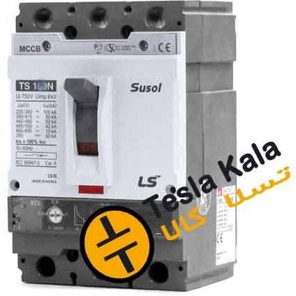 تصویر کلید اتوماتیک،کمپکت 100 آمپر،قابل تنظیم حرارتی-ثابت مغناطیسی LS سری SUSOL
