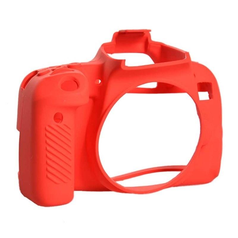 محافظ و کاور سیلیکونی دوربین عکاسی کانن ۸۰۰D قرمز   800D Camera Body Protection red