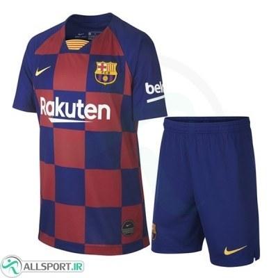 پیراهن شورت بچگانه اول بارسلونا Barcelona 2019-20 Home Soccer Jersey Kids Shirt+Short