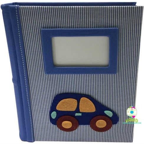 تصویر آلبوم عکس کودک فریم دار مدل ماشین
