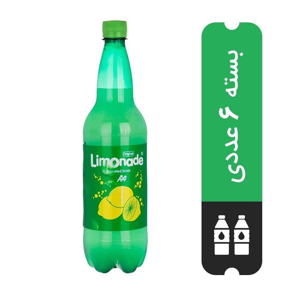 تصویر بسته ۶ عددی نوشابه لیموناد زمزم ۱ لیتری -