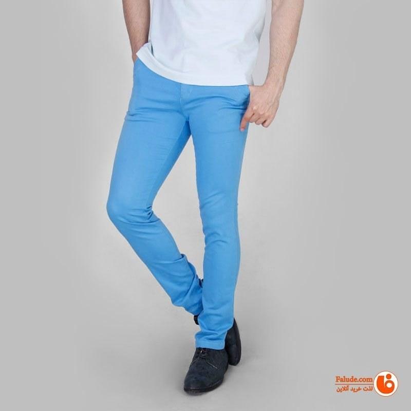 شلوار کتان مردانه آبی روشن یزدباف مدل آریس |