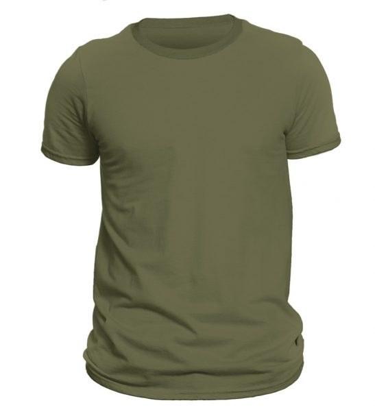تی شرت آستین کوتاه مردانه رنگ سبز زیتونی