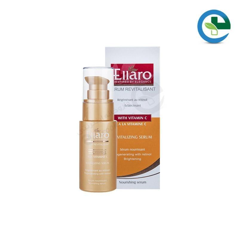 عکس سرم احیا کننده و تغذیه کننده پوست ویتامین C الارو 30 میل Ellaro Coforter & Nourishing Serume With Vitamin C 30ml سرم-احیا-کننده-و-تغذیه-کننده-پوست-ویتامین-c-الارو-30-میل