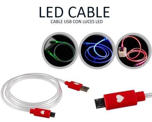کابل میکرو یو اس بی دارای LED
