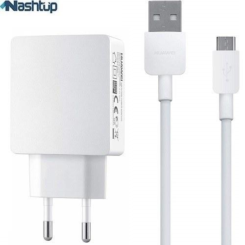 تصویر شارژر ديوارى ٢ آمپر اصلى همراه كابل هواوى گوشى Huawei G610 2A travel charger with 1 m cable for huawei G610