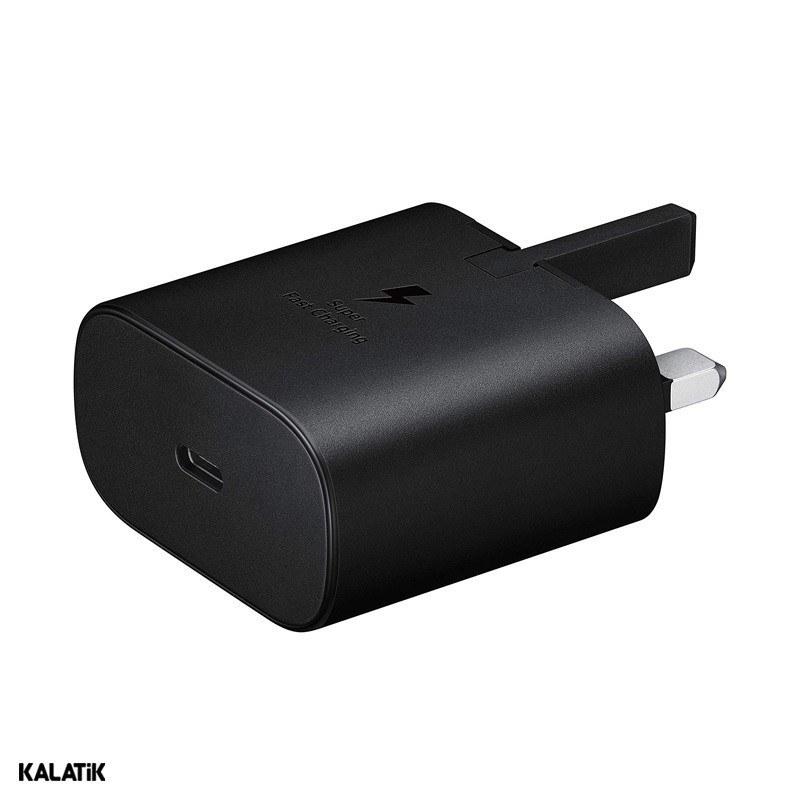 تصویر شارژر تایپ سی سامسونگ اورجینال مدل EP-TA800NBEGGB Samsung Type C to Type C Adapter 25W EP-TA800NBEGGB