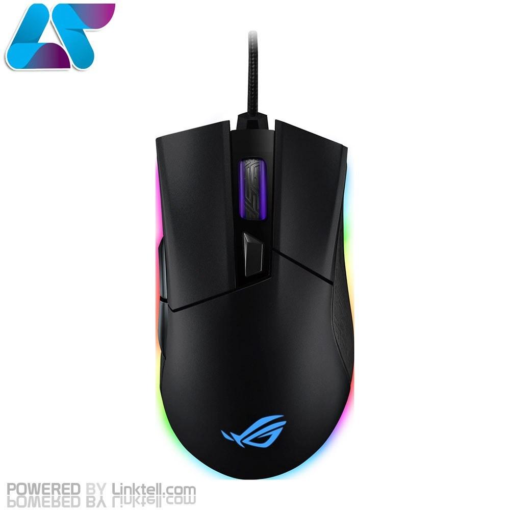 تصویر ماوس گیمینگ باسیم ایسوس مدل P504 ROG Gladius II Wired ASUS ROG Gladius II Wired RGB Optical Gaming Mouse P504