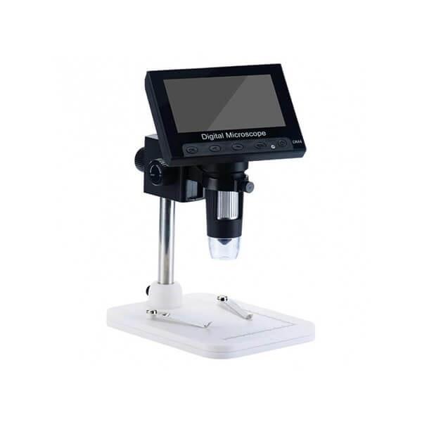 تصویر میکروسکوپ دیجیتال 1000X Portable Digital Microscope دارای نمایشگر 4.3 اینچی مدل DM4