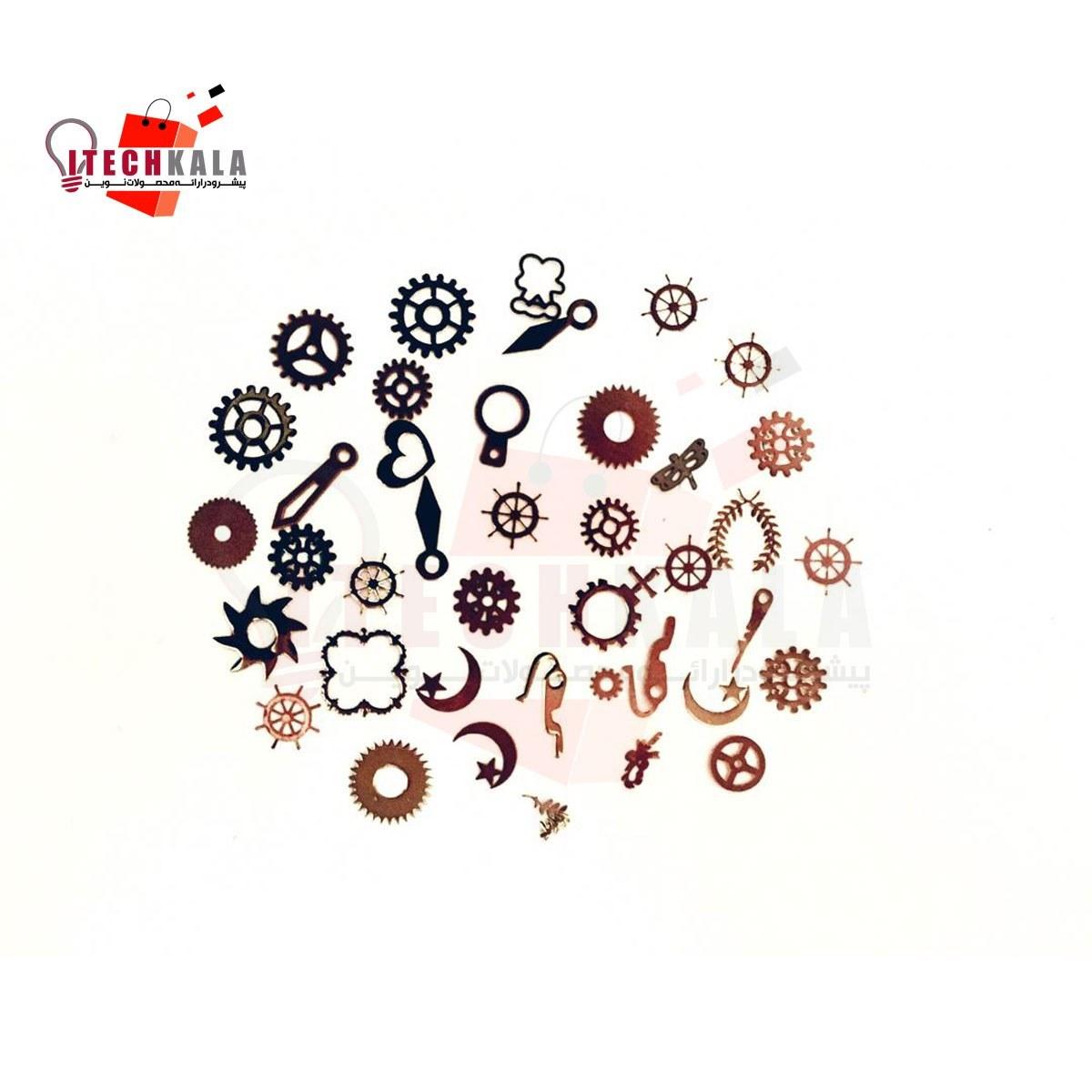 تصویر چرخ دنده های تزیینی برای کار با رزین اپوکسی (20 عددی)