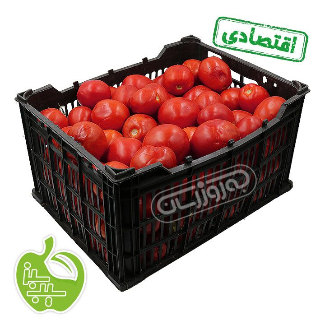 تصویر گوجه فرنگی سبدی اقتصادی برند سیب سبز