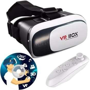 هدست واقعیت مجازی وی آر باکس مدل VR Box 2 به همراه ریموت کنترل بلوتوث و DVD  حاوی اپلیکیشن و باتری | VR Box VR Box 2 Virtual Reality Headset With Game Pad