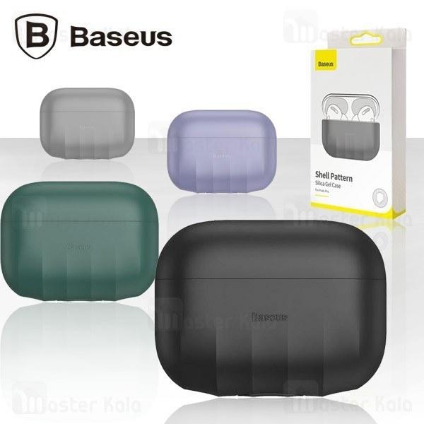 کاور محافظ سیلیکونی ایرپاد پرو بیسوس Baseus Shell Pattern Silica Gel Case WIAPPOD-BK