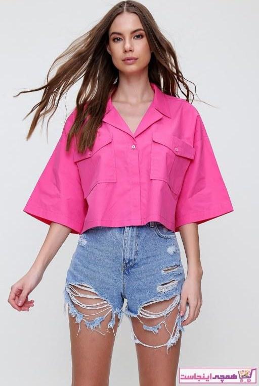 تصویر شومیز زنانه مدل دار مارک Trend Alaçatı Stili رنگ صورتی ty94832210