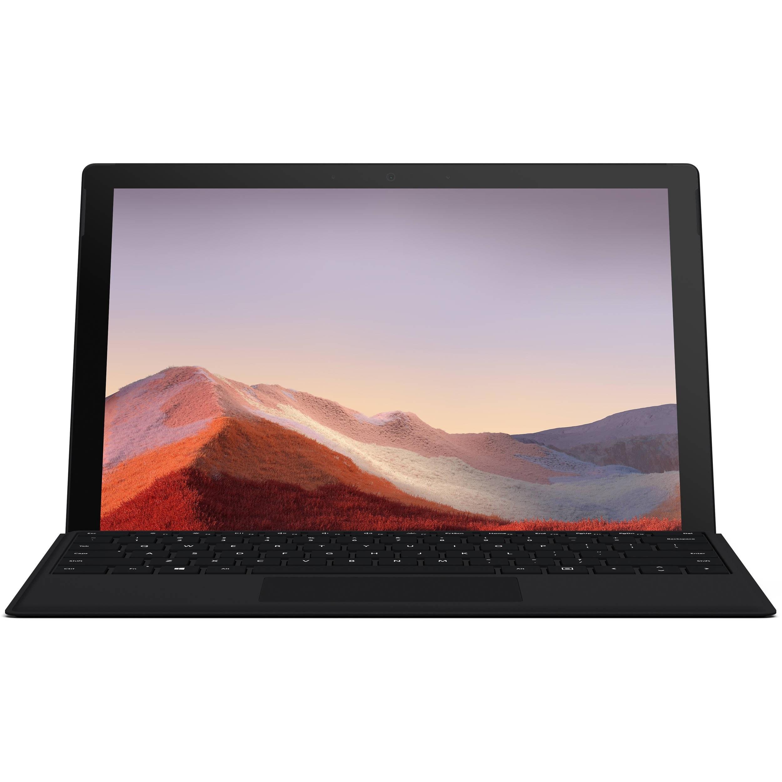 تصویر تبلت مایکروسافت مدل Surface Pro 7 - E به همراه کیبورد Black Type Cover Microsoft Surface Pro 7 - E - Tablet With Black Type Cover Keyboard