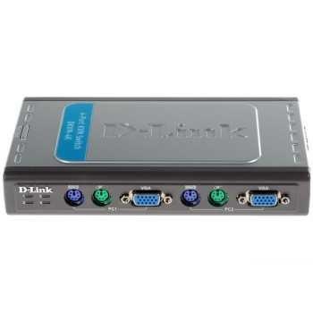 سوييچ KVM دي-لينک مدل DKVM-4K براي 4 عدد کامپيوتر | D-Link DKVM-4K KVM Switch for 4 PCs
