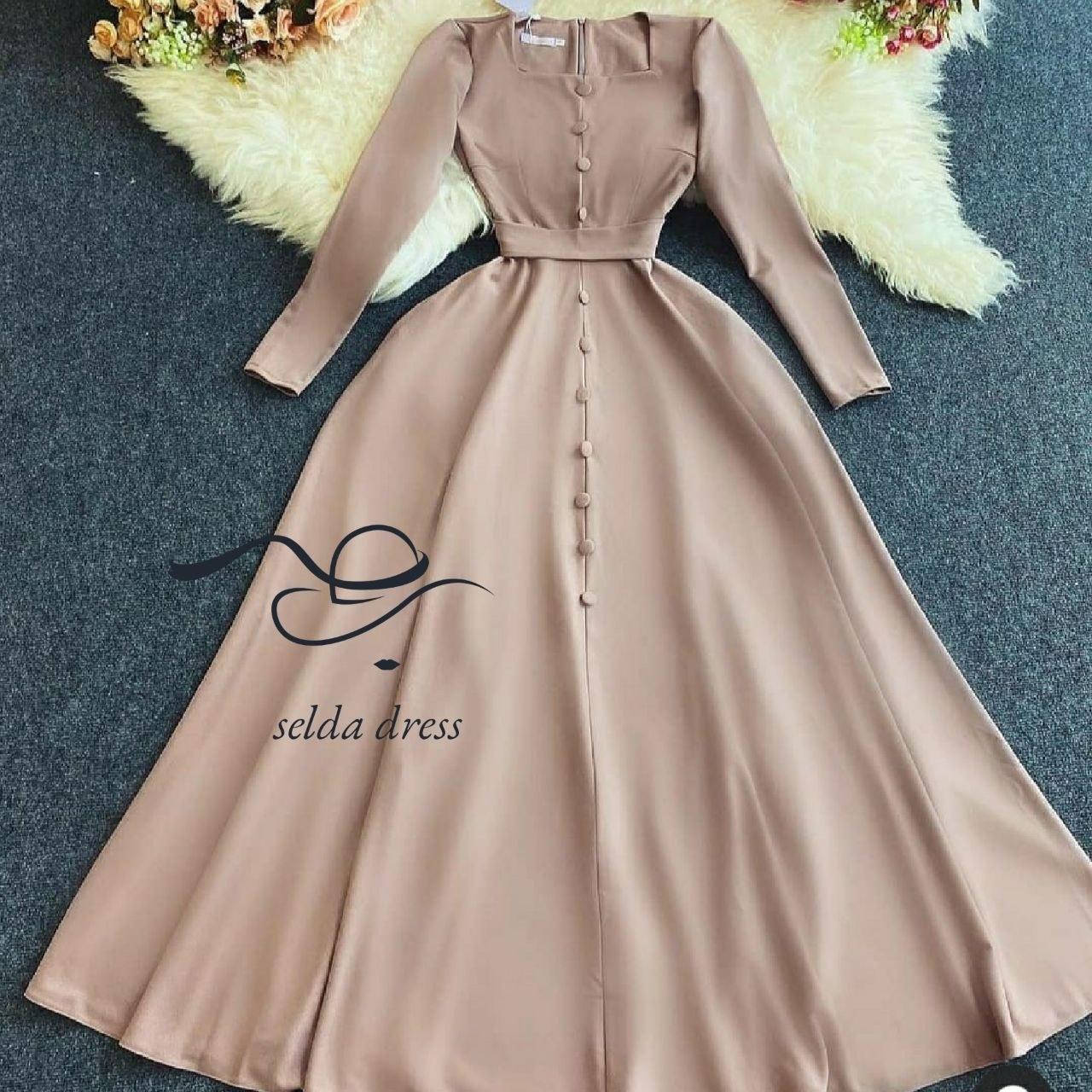 تصویر خرید لباس مجلسی جدید ۱۴۰۰ ماکسی و خاص ۱۷۹ - کرم / ۴۴ 179