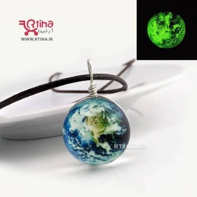 تصویر گردنبند نورانی شب نما مدل EARTH