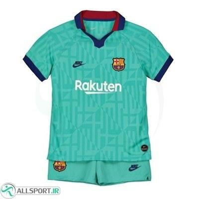 پیراهن شورت بچگانه سوم بارسلونا Barcelona 2019-20 3rd Soccer Jersey Kids Shirt+Short