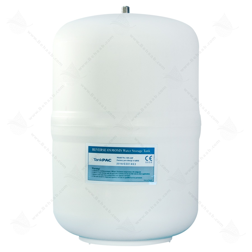 تصویر مخزن تصفیه آب 3.2 گالن تانک پک TP-12P Reverse Osmosis Water Storage Tank 3.2 Gallon TankPAC