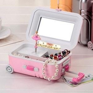 جعبه جواهرات موزیکال طرح چمدان