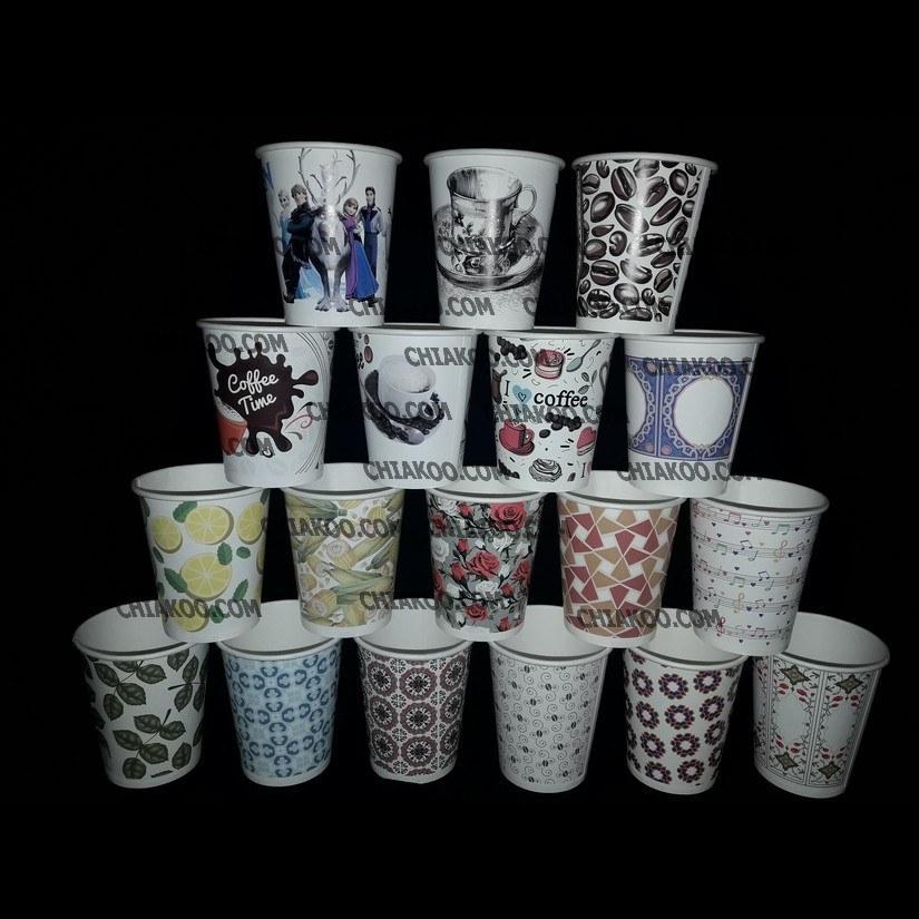 ظرف یکبار مصرف لیوان کاغذی -کاغذ کُره (2000عدد)  