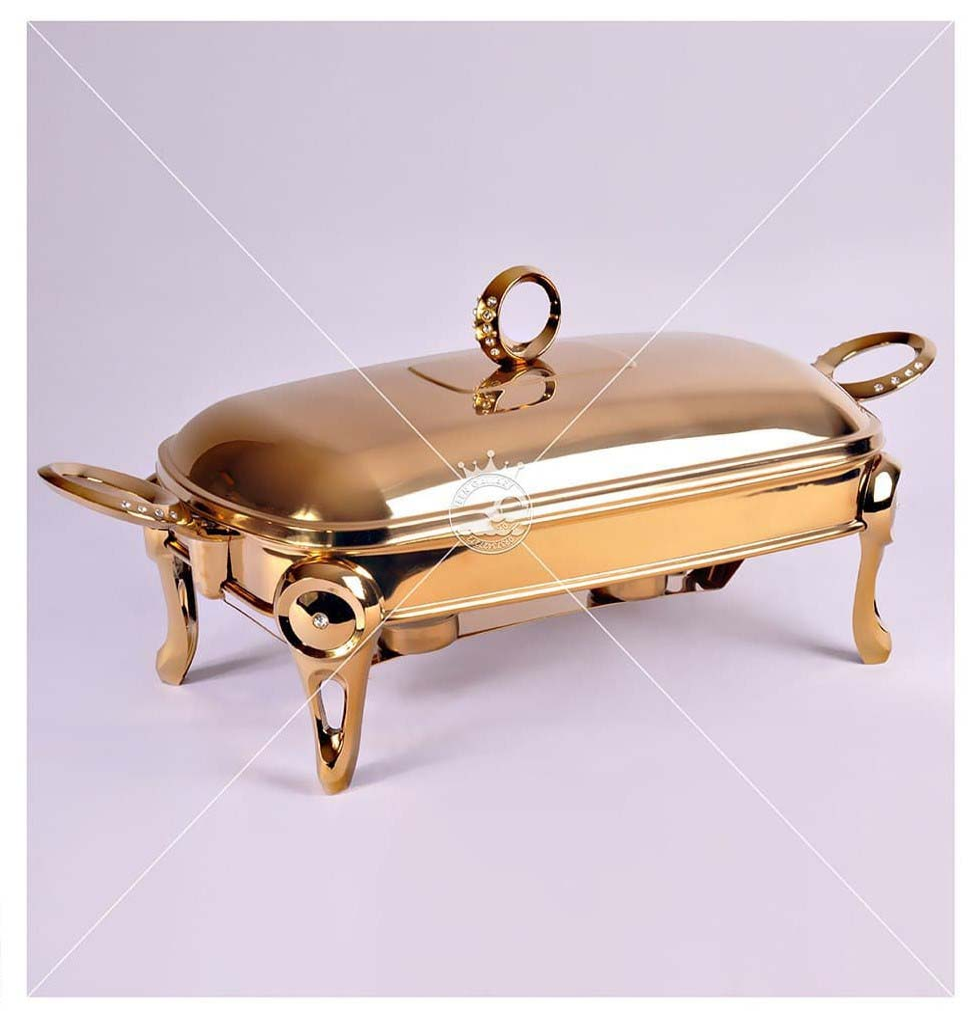 تصویر کد 5-170   سوفلهخوری مستطیل استیل حلقه نگین طلایی
