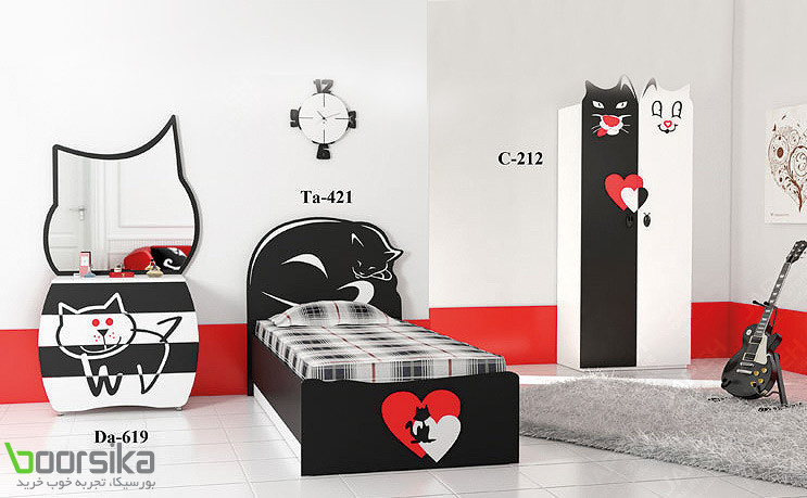 سرویس خواب نوجوان تراشه Tarasheh Cat Bed