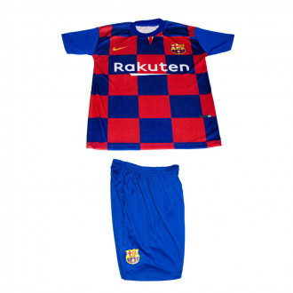 تصویر ست پیراهن وشورت ورزشی پسرانه طرح بارسلونا مدل مسی 6001490