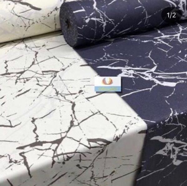 تصویر پارچه ملحفه ساتن پنبه عرض 240 طرح مرمر