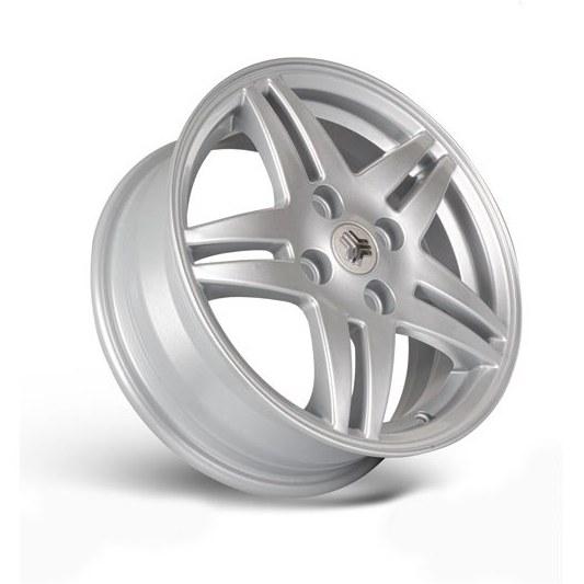 تصویر رینگ چرخ نقره ای Tiba سایز 14 اینچ Danatak Wheel Rims Tiba