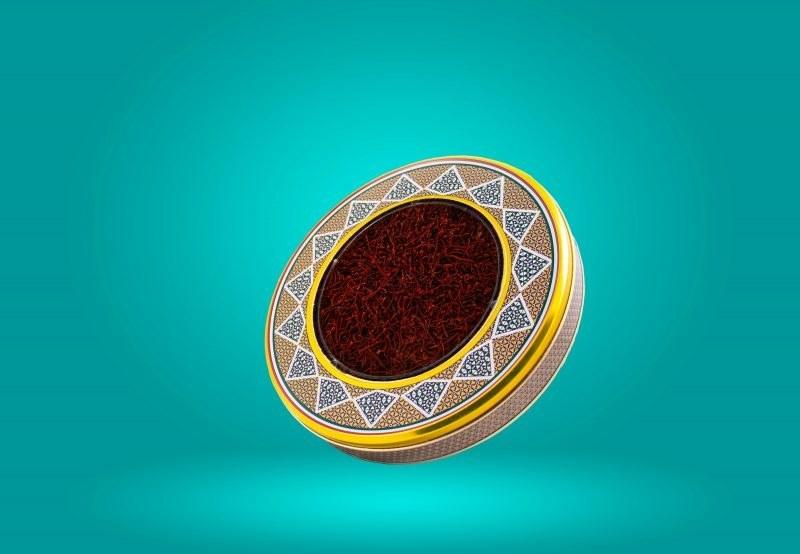 تصویر زعفران سرگل نگین قائنات یک مثقالی خاتم
