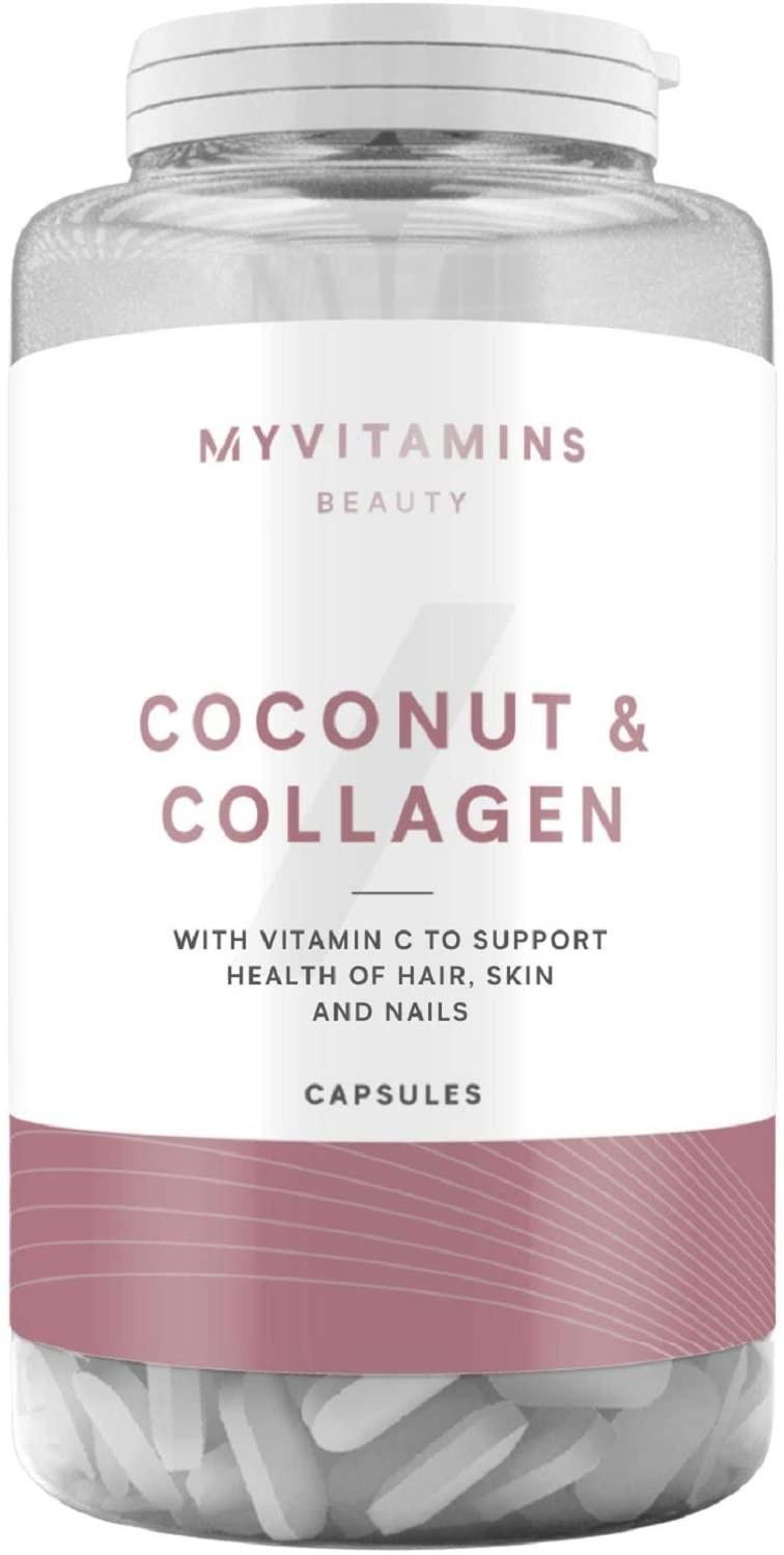 تصویر کپسول کوکونات کلاژن مای ویتامینز انگلیس - 180 coconut collagen my vitamins