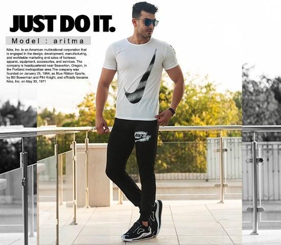 ست تیشرت وشلوار مردانه Nike مدل Aritma |