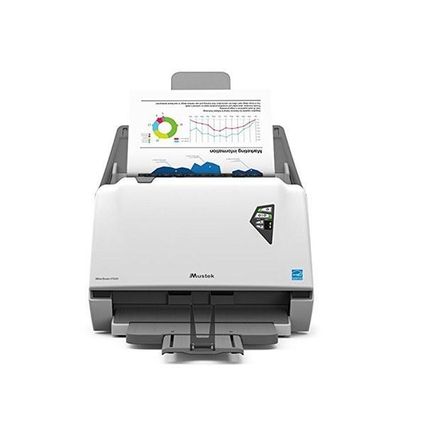 تصویر اسکنر ماستک iDocScan P100 تکنولوژی اسکن Color Duplex Sheetfed و تغذیه خودکار Mustek Scanner