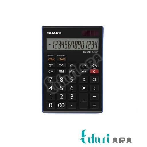 عکس ماشین حساب شارپ مدل EL-145T BL|مشکی SHARP EL-145T BL Calculator ماشین-حساب-شارپ-مدل-el-145t-bl-مشکی