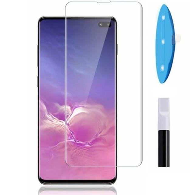 محافظ صفحه تمام منحنی سامسونگ Curved Full Glue UV Nano Glass | Galaxy S10 Plus |