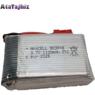 تصویر باتری لیتیوم پلیمر 3.7 ولت 1100 میلی آمپر تک سل