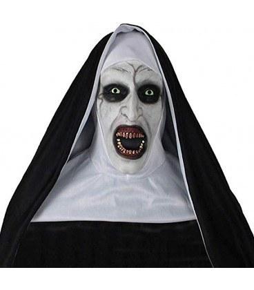 تصویر ماسک صورت طرح راهبه شیطان ترسناک احضار 2 The Conjuring 2 Devil Nun Horror Mask