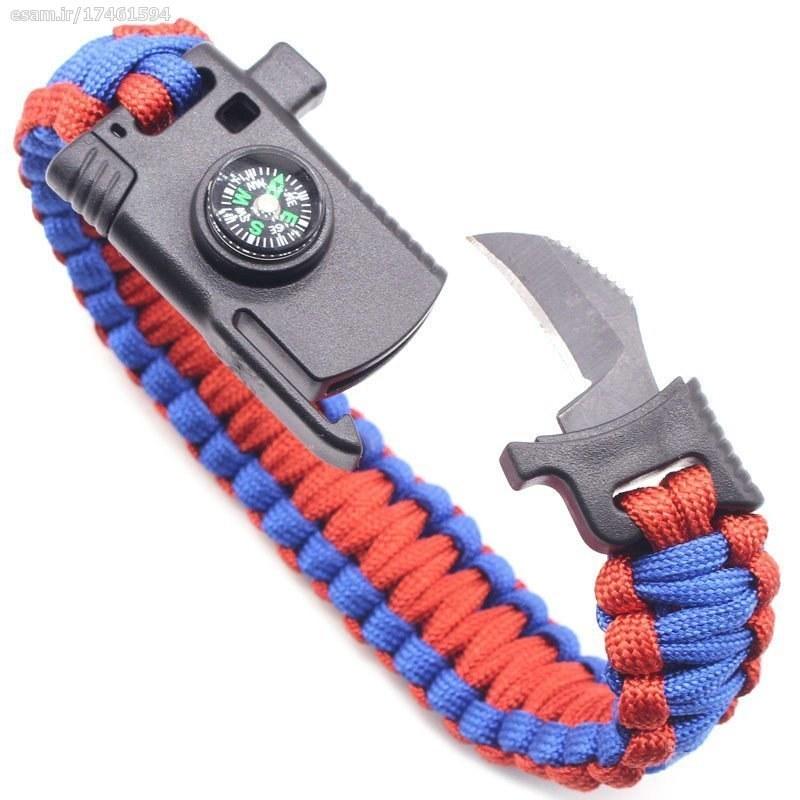 دستبند پاراکورد چاقو دار تاکتیکال