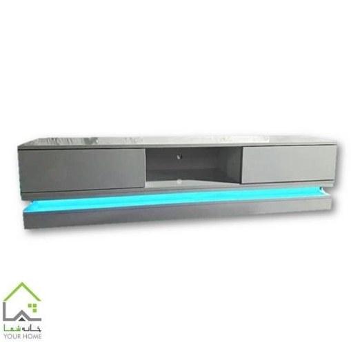 میز تلویزیون هایگلس با نورپردازی
