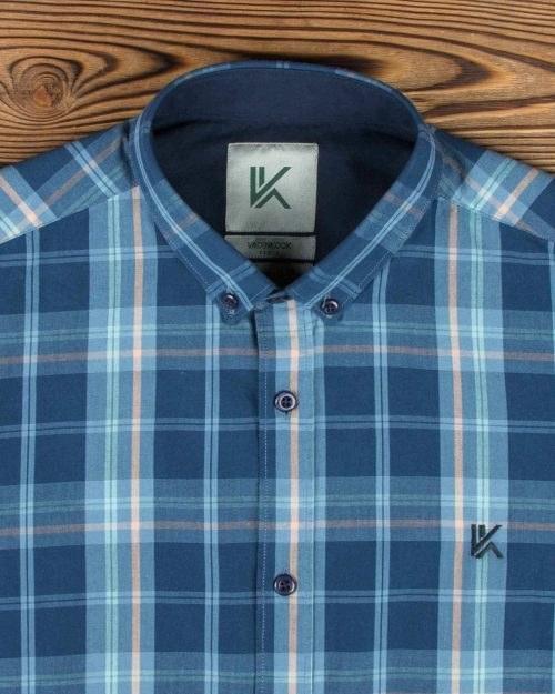 عکس پیراهن مردانه آستین کوتاه چهارخانه  پیراهن-مردانه-استین-کوتاه-چهارخانه