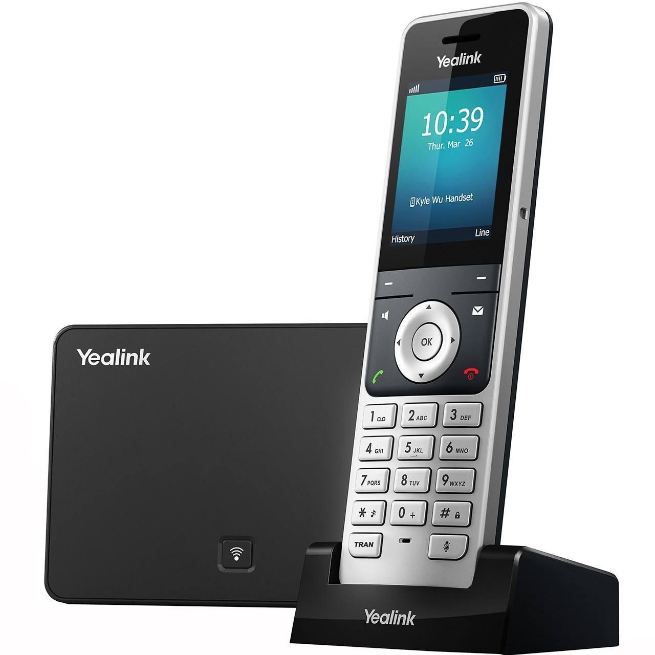 تصویر تلفن تحت شبکه بی سیم یالینک مدل W56P Yealink W56P Wireless IP Phone