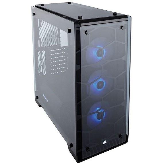 تصویر کیس برج برج میانی CORSAIR CRYSTAL 570X RGB، 3 فن RGB ، شیشه خو - سفید (CC-9011110-WW)