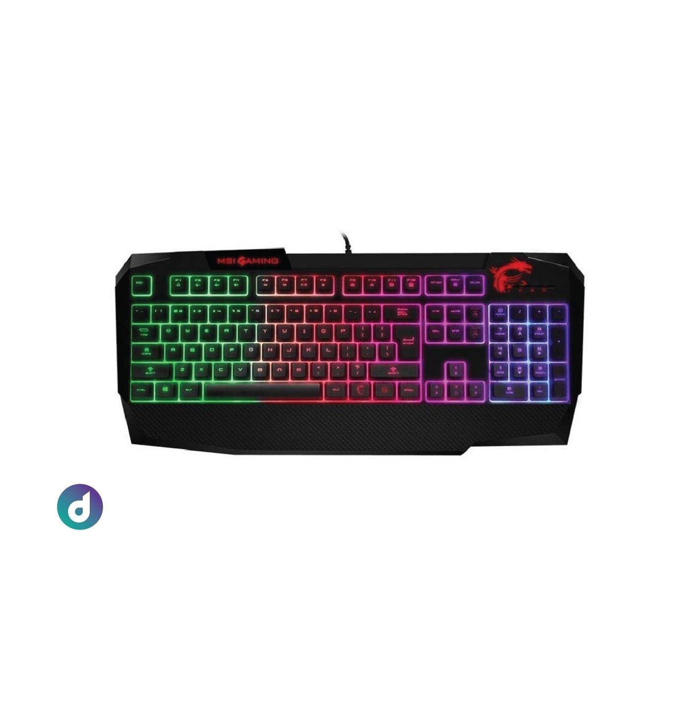 تصویر کیبورد گیمینگ ام اس آی مدل MSi Vigor GK40 (msi gaming keyboard vigor gk40 PS)
